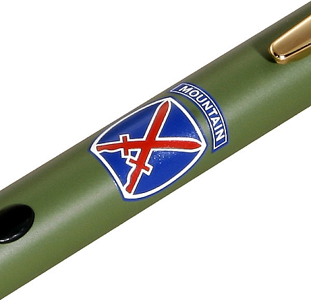 10th Mountain Division - Green Laser Pointer & Z-Bolt Lanyard