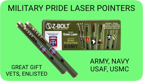 US Armed Forces Green Laser Pointers!