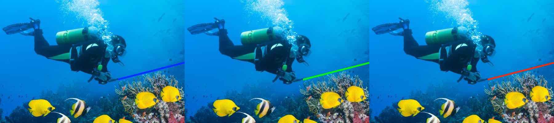 Multiple Color Scuba Diving Laser Pointers