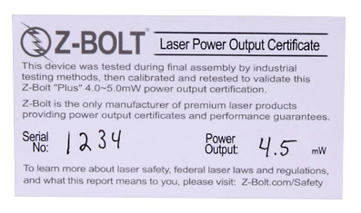 Z-Bolt® Power Output Reports