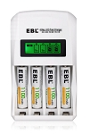 Reusable Batteries - AAA Battery Charger, 4 pcs Rechargeable Alkaline