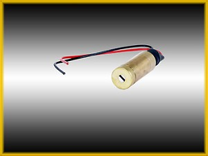 DPSS-1L, 12 mm, < 1mW, Green Laser Line, Wire Leads - 5 pcs