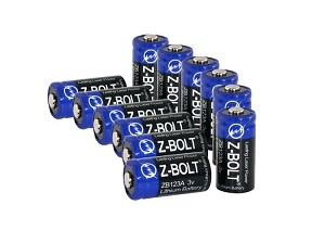 CR123A Lithium - 12 Pack - Disposable Batteries