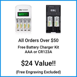 CR123A OR AAA BATTERY CHARGER KIT