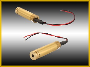 DPSS-5B-CH, 12 mm, Laser Crossed Line-Crosshair Modules, Wire Leads - 5 pcs